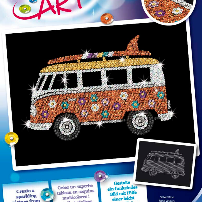 Sequin Art Camper Van craft set from the Blue collection