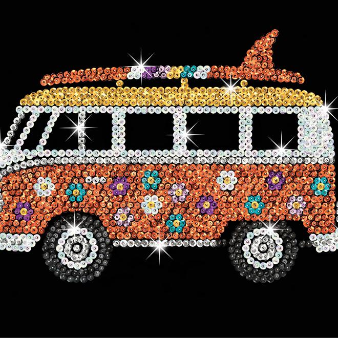 Sequin Art Camper Van craft set from the Blue Range