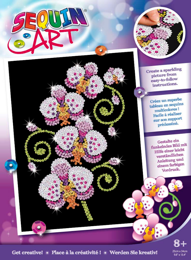 SEquin Art Orchids craft set from the Purple collection
