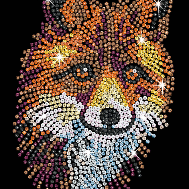 Sequin Art Red Fox craft kit from the Blue Range