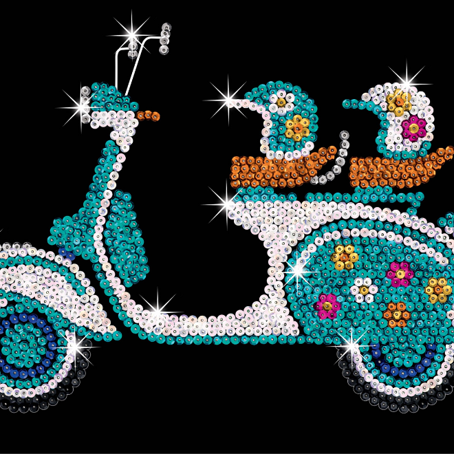 Sequin Art Scooter craft kit from the Purple collection