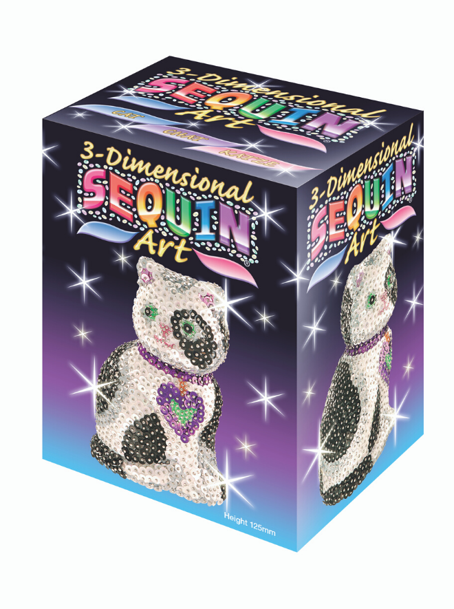 Sequin Art 3D Cat craft kit