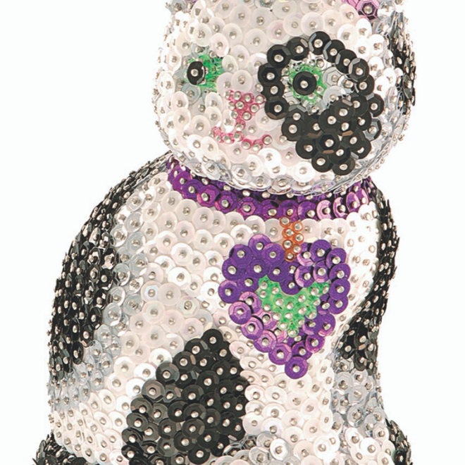 Create your own 3D Cat with this Sequin Art craft set