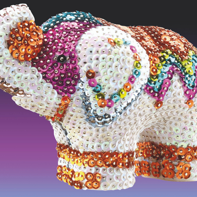 Create your own Elephant model with this Sequin Art 3D craft set
