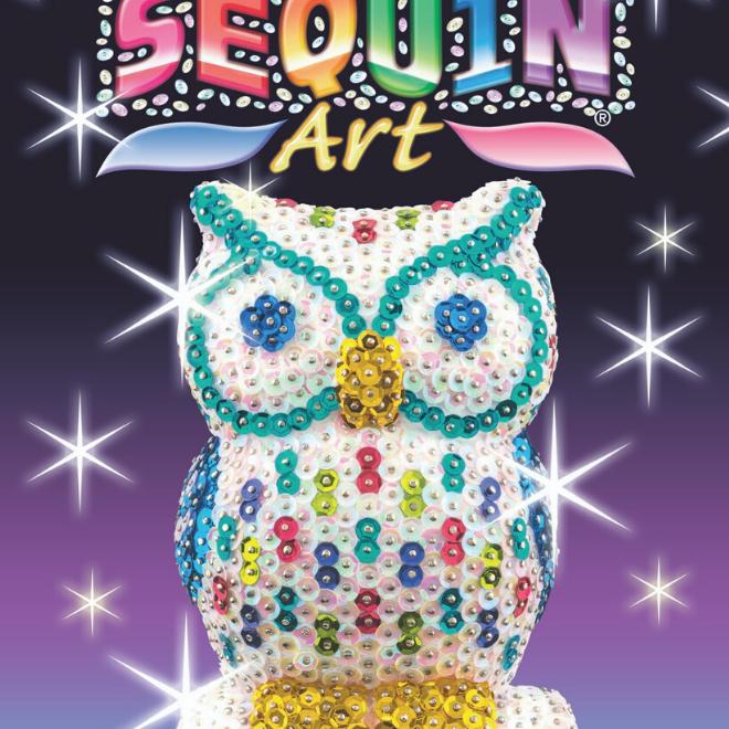 Sequin Art 3D Owl
