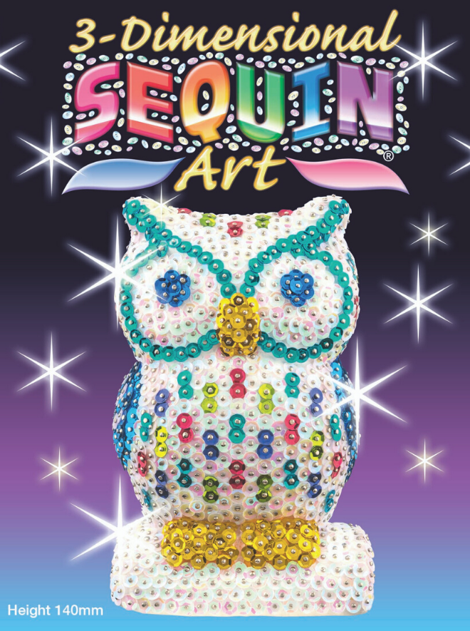 Sequin Art 3D Owl