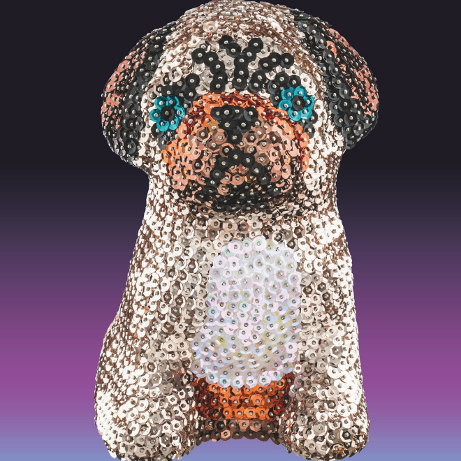 Sequin Art 3D Pug craft project