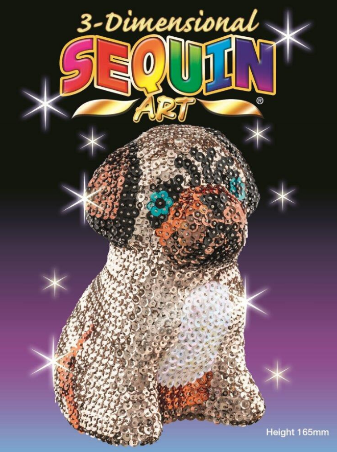 Sequin Art 3D Pug craft set