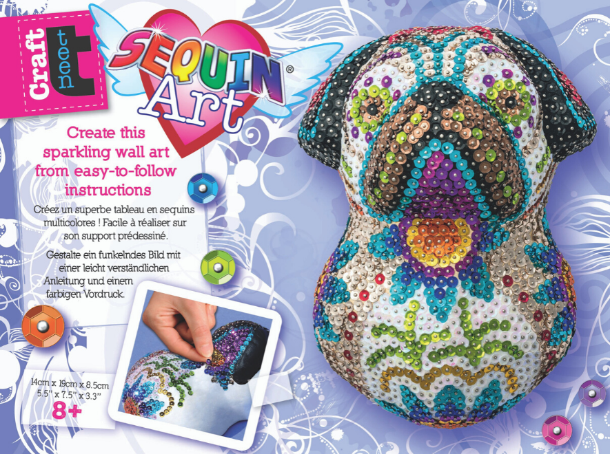 Sequin Art 3D Sugar Pug craft kit