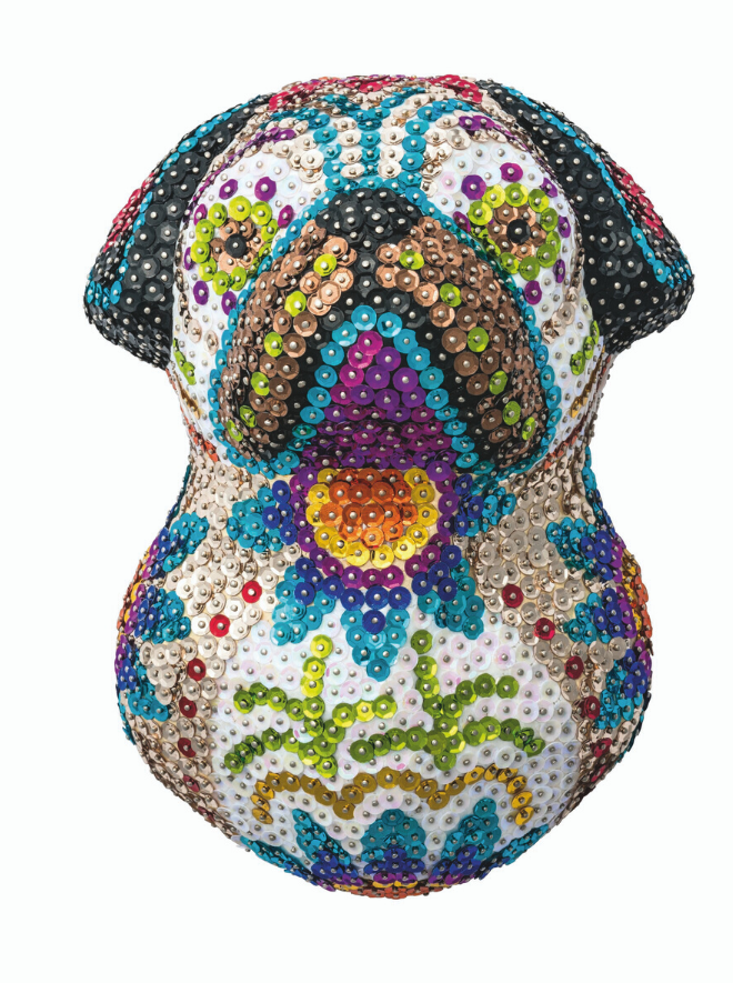 Sequin Art 3D craft kit, make your own Pug model
