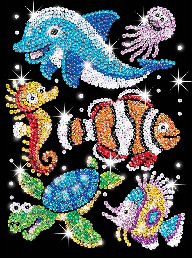 Sequin Art Aqua Buddies Sealife craft project