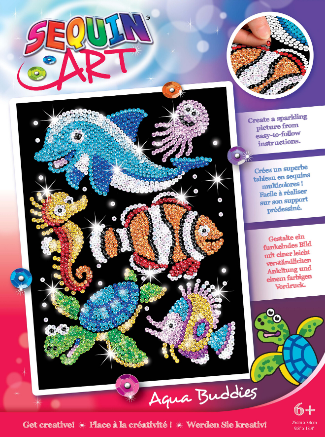 Sequin Art Sealife craft kit