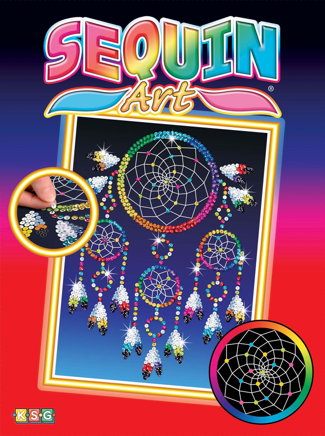 Sequin Art Dreamcatcher creative craft kit