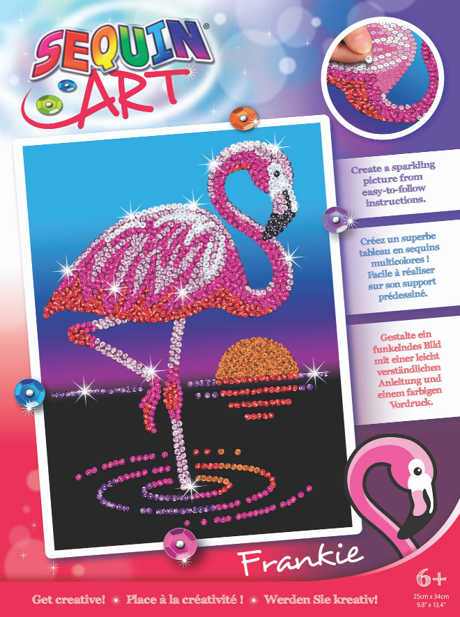 Sequin Art Frankie Flamingo craft kit