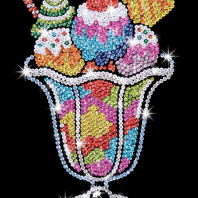 Sequin Art Ice Cream Sundae craft kit from the Blue collection