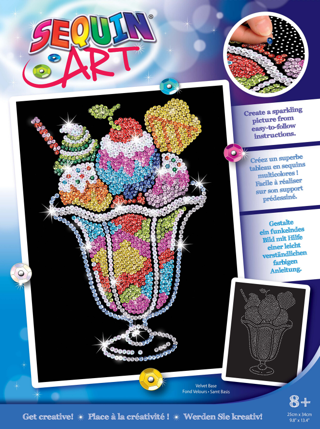 Sequin Art Ice Cream Sundae craft kit