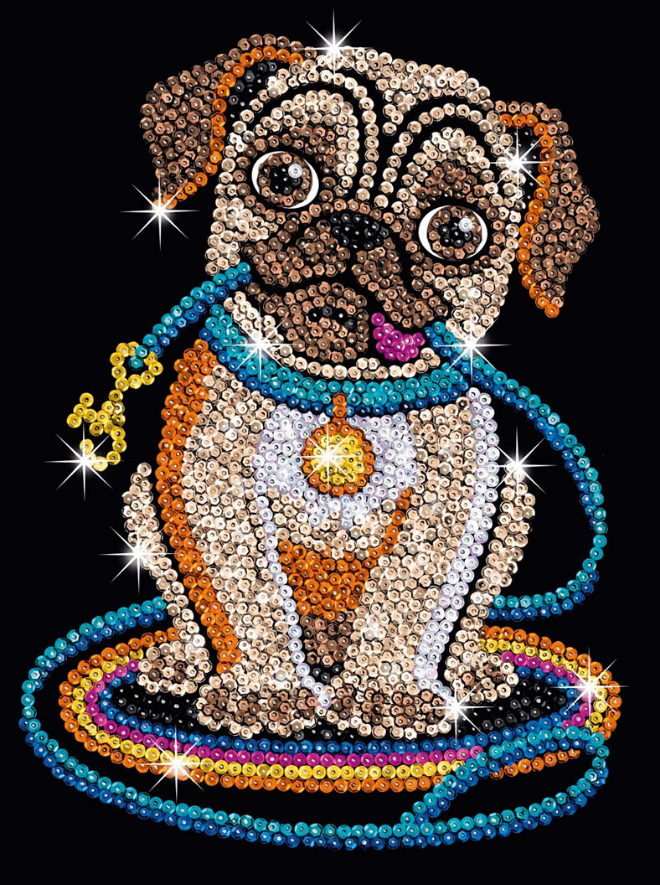 Sequin Art Lily Pug craft set from the Red range