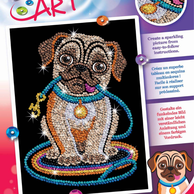 Sequin Art Lily Pug craft set