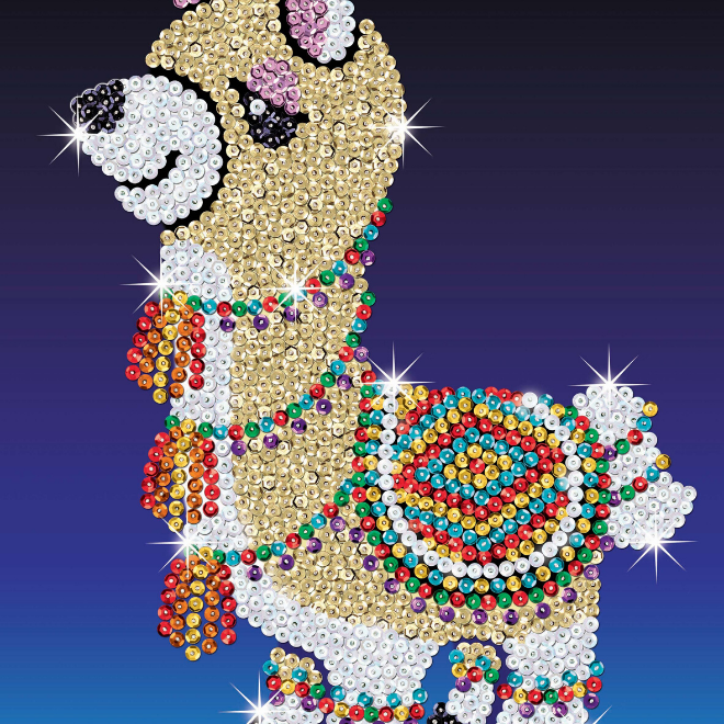 SEquin Art Llama craft project from the Red range