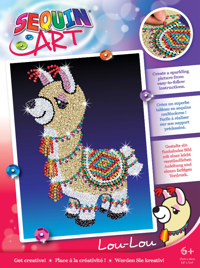 Sequin Art Llama craft kit