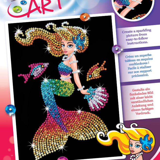 Sequin Art Mia Mermaid craft kit
