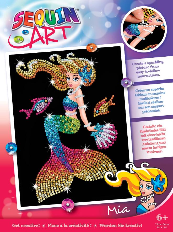 Sequin Art Mia Mermaid craft kit