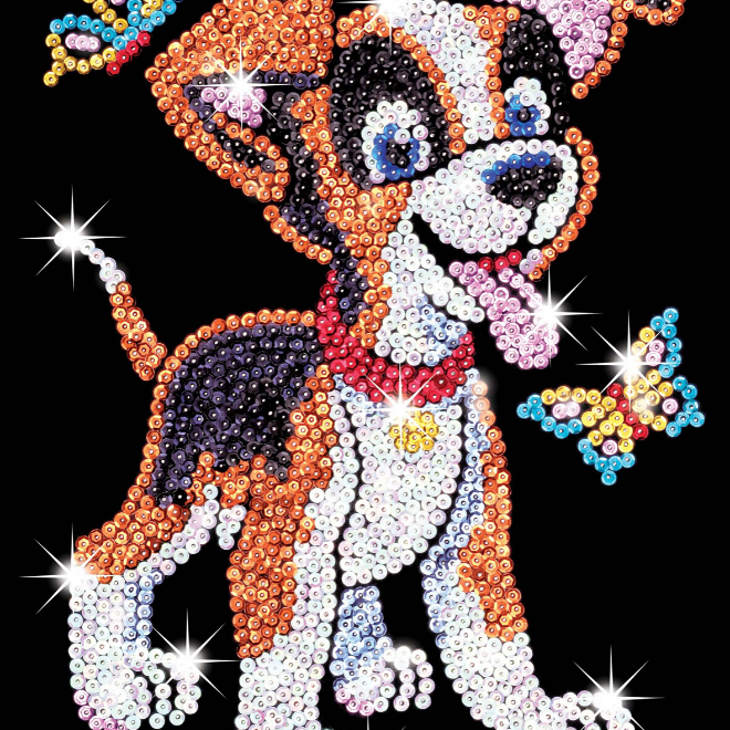 Sequin Art Oscar the Puppy craft kit from the Red range