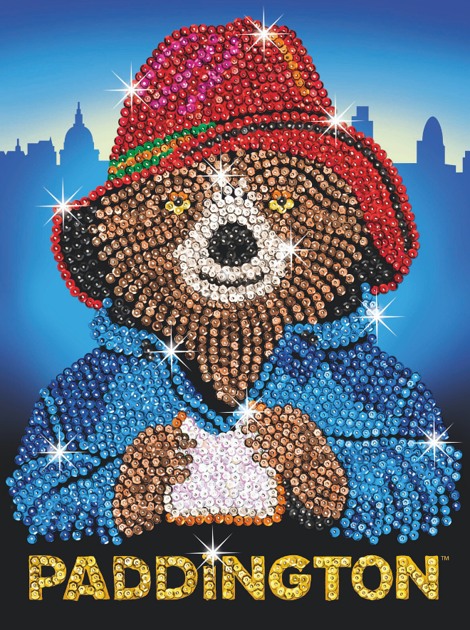Sequin Art Paddington Bear Face craft kit