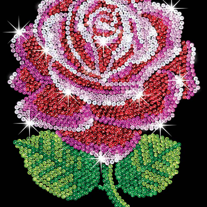 Sequin Art Red Rose craft kit