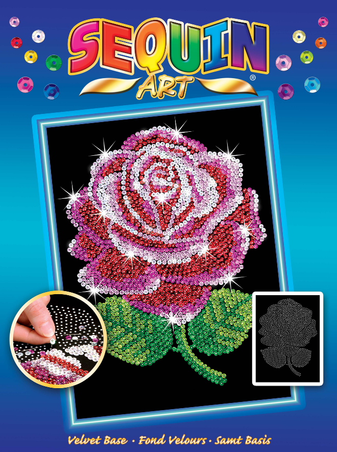 Sequin Art Red Rose craft set from the Blue range