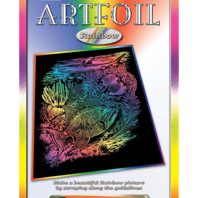 Scratch Art Sealife shiny craft kit