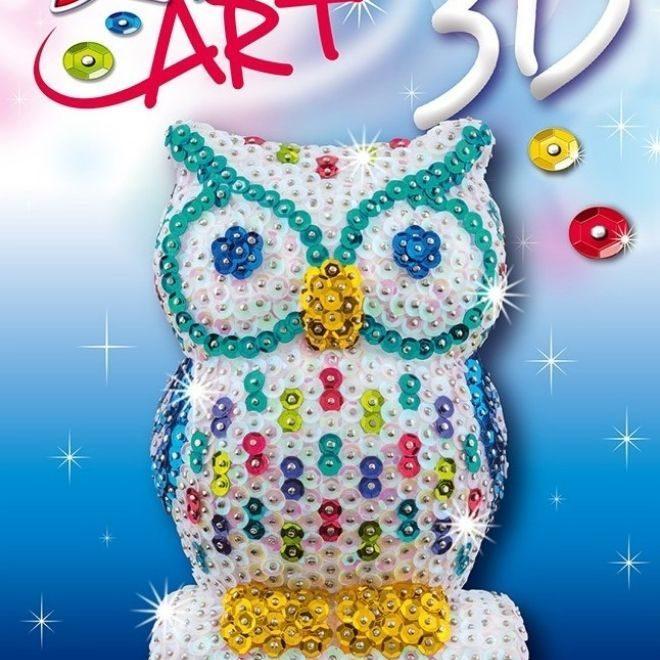 Sequin Art 3D Owl craft kit