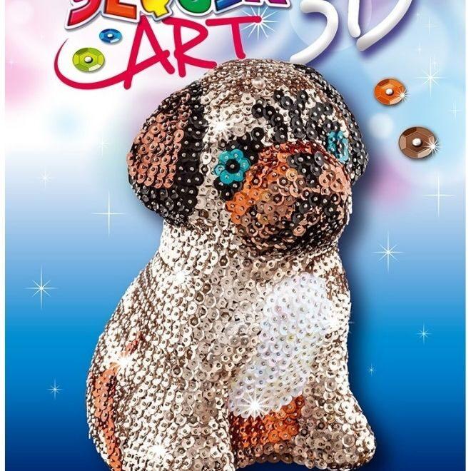Sequin Art 3D Pug craft kit