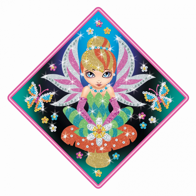 Adorable Sequin Art Fairy craft set
