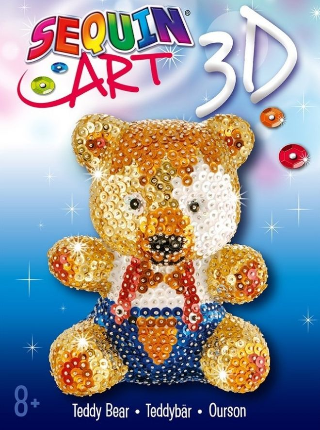 Sequin Art 3D Teddy craft kit