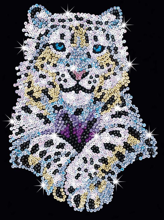 Sequin Art Snow Leopard sparkly craft kit