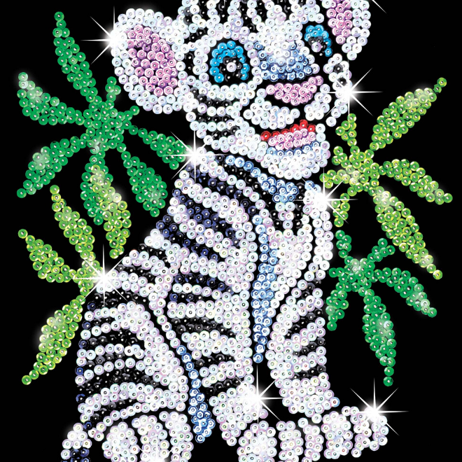 Sequin Art White Tiger craft kit