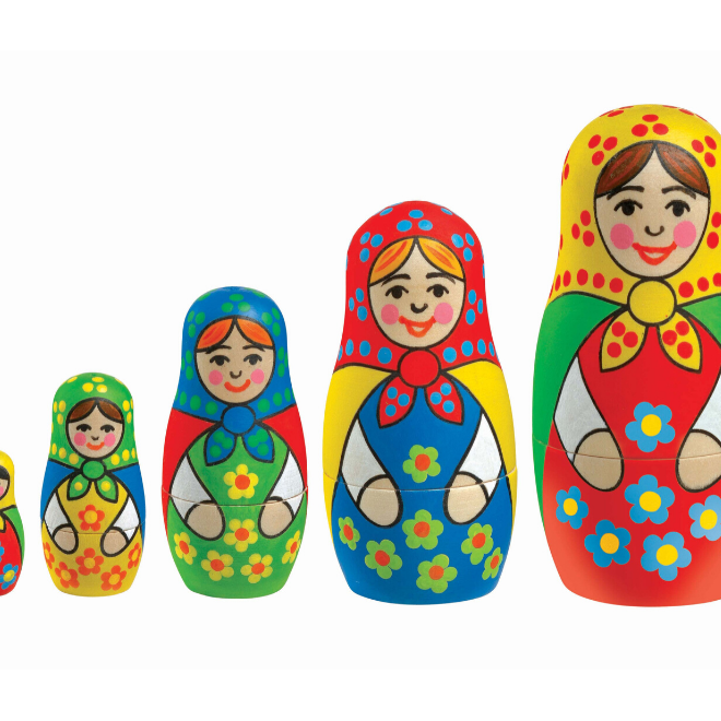 Create your own Baboushka Russian Dolls with this craft set
