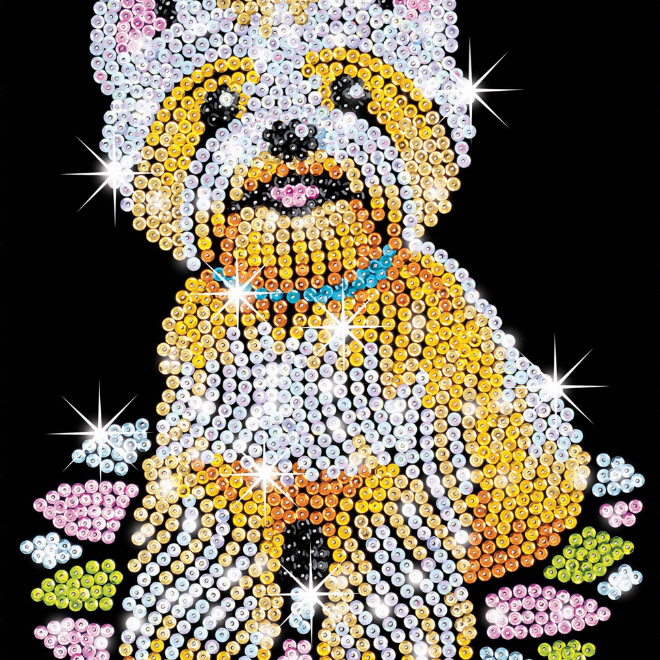 Sequin Art Westie craft project