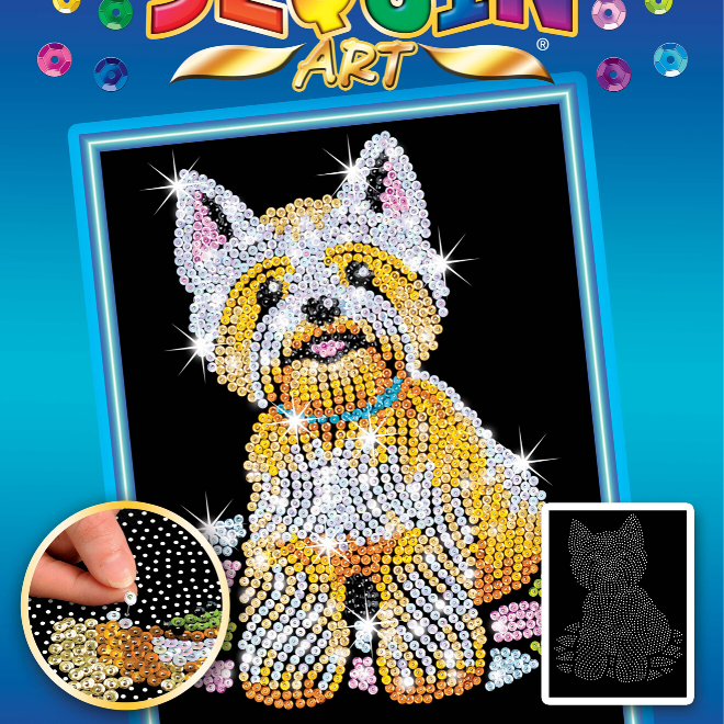 Sequin Art Westie craft set from the Blue Range