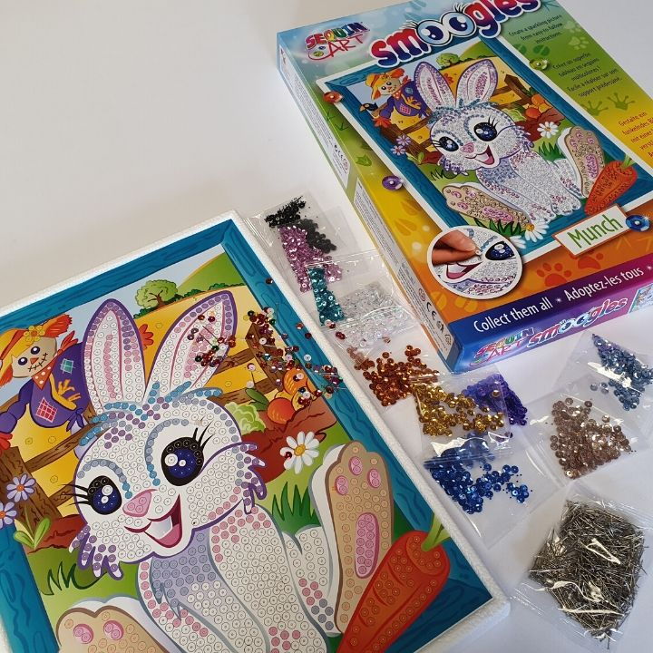 Sequin Art Easter Bunny Munch craft kit