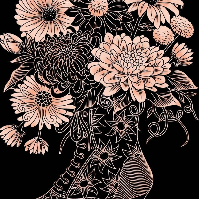 Scratch Art Boot In Bloom craft kit