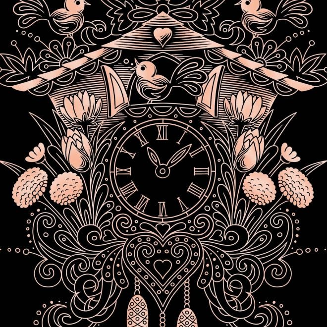 Scratch Art Cuckoo Clock craft project