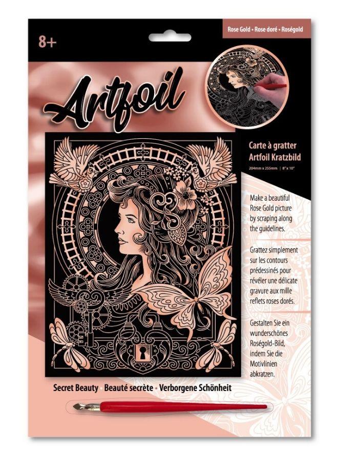 The Secret Beauty Scratch Art craft project