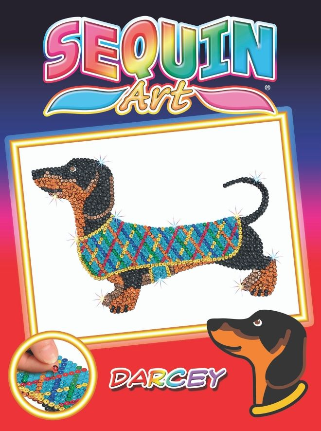 Sequin Art Darcey the Dachshund craft kit