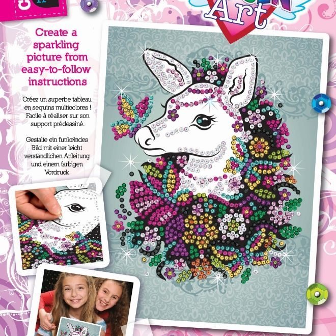 Sequin Art Doe craft set from the Craft Teen range