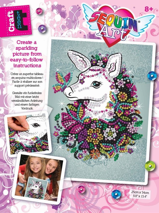 Sequin Art Doe craft set from the Craft Teen range