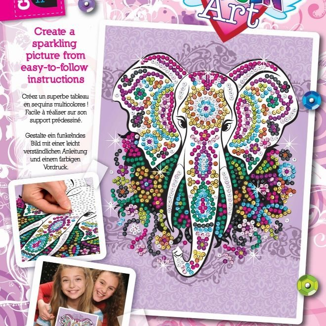 Sequin Art Elephant craft set