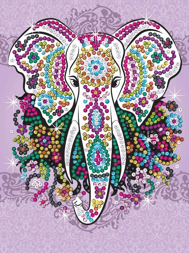 Create your own Elephant with this sparkly craft kit