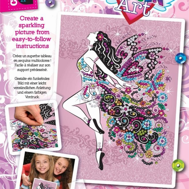 The magical Fairy craft project from the Sequin Art Craft Teen range